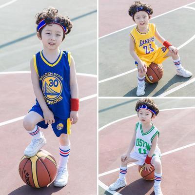 兒童籃球服套裝男童女童運動球衣寶寶夏季小學生幼兒園訓練服男孩