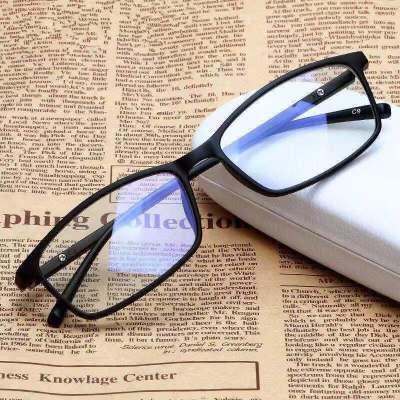 眼鏡男電腦手機眼鏡護眼平光鏡平面無度數眼鏡女 諾妮夢