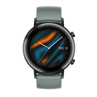 华为/HUAWEI WATCH GT2 (42mm)适用Mate 30强劲续航专业智能手表运动防水音乐麒麟芯片 运动版 -湖光青