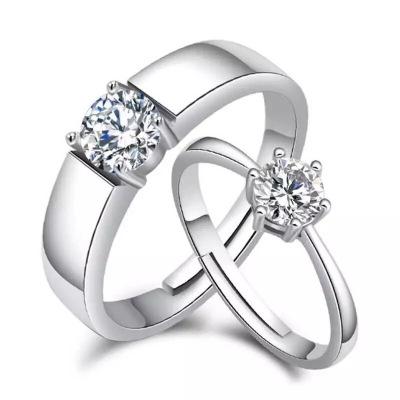 帛蘭梓韻 S925純銀戒指情侶款對戒活扣韓版簡約女款戒指時尚個性禮物