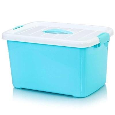 。儲衣箱密封收納箱 塑料 整理箱裝衣箱膠箱 長方形 帶蓋 有蓋大歐因衣箱