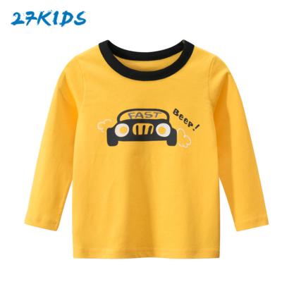 27Kids兒童長袖休閑T恤寶寶衣服男女童時尚潮流卡通休閑t-shirt童裝