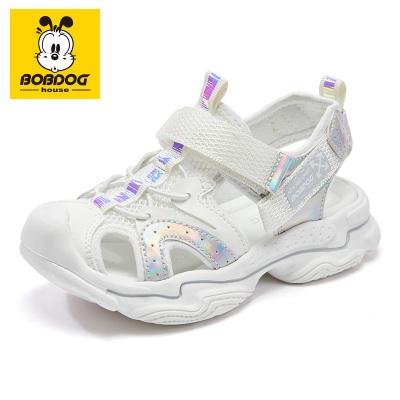 BOBDOG HOUSE巴布豆童鞋2020夏季男女童學生沙灘鞋中大童韓版包頭防滑兒童涼鞋8614