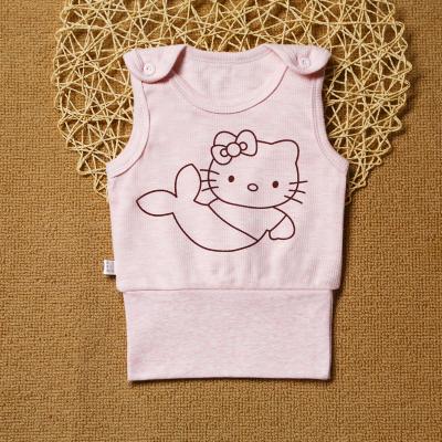 La MaxZa【舒棉有彈性舒服】寶寶護肚背心春秋冬款嬰兒高腰睡衣兒內衣