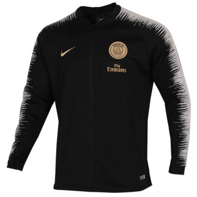 NIKE耐克巴黎日耳曼男裝2018新款運動服訓練足球服夾克外套 894365-013