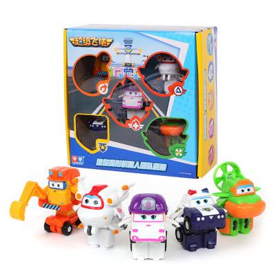 奥迪双钻(AULDEY)超级飞侠 男孩女孩儿童玩具车 迷你变形机器人团队套装 5只装 超级飞侠第五季 730096
