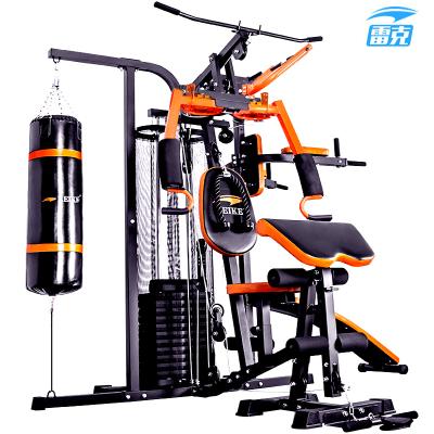 雷克 大型多功能 健身器材 三人站综合训练器 家用力量组合器械健身房健身器材配健腹板