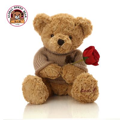 柏文熊腳印毛衣小熊泰迪熊毛絨玩具玩偶公仔婚慶娃娃兒童生日禮物男女