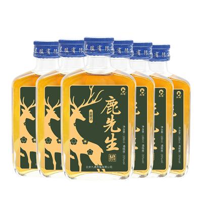 鹿先生鹿鞭酒100ml35度六瓶裝權祿可搭男性保健品金戈性藥偉哥腎寶片藥酒瑪卡保健酒有勁養生酒三鞭酒等泡酒藥材