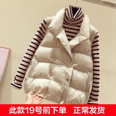 羽绒棉马甲女短款百搭2019冬季新款女装韩版无袖坎肩背心保暖立领马夹棉服