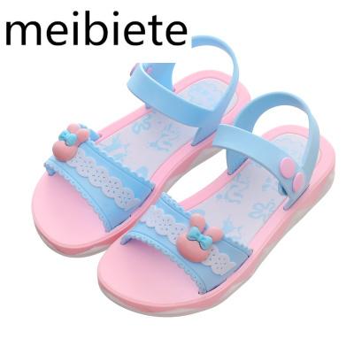 女童涼鞋20夏季新款沙灘鞋兒童塑料涼鞋女孩中小童鞋韓版公主鞋