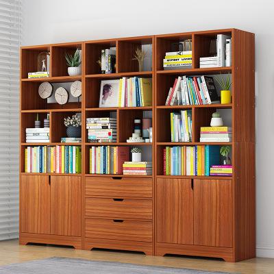 騰煜雅軒 簡約現代人造板式書房家具 書架置物架簡約落地家用學生收納帶書柜書櫥大容量客廳儲物柜子 書柜