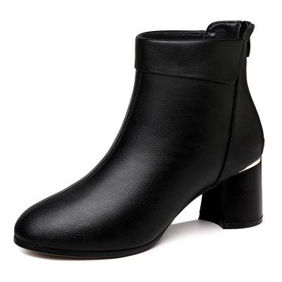 帝紫規楊冪同款馬丁靴女英倫風高跟短靴女皮鞋2020秋冬新款帥氣女士靴子女鞋