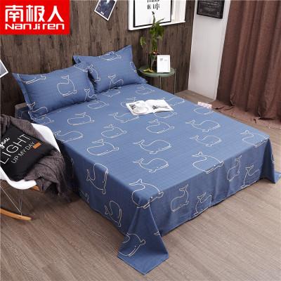 南極人(NanJiren)家紡 純棉床單單件 床上用品1.2m床1.5m床1.8米床全棉床單條紋/格子床罩單品