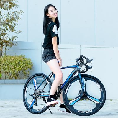 凤凰700c公路自行车21速27速成人弯把男女学生公路赛车双碟刹单车铝合金其他