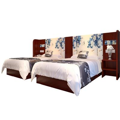 苏宁放心购快捷酒店宾馆公寓旅馆 电脑桌衣柜客房标间1.2米成套具床架子简约新款