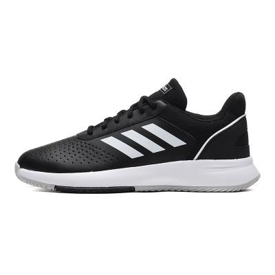 【自营】adidas男鞋网球鞋网球训练实战运动鞋F36717 F36717黑色/白色