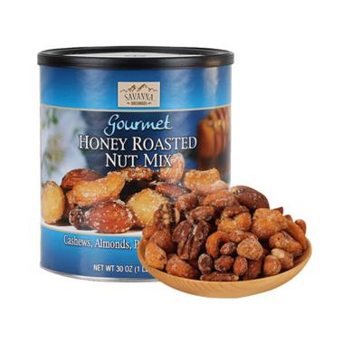 美國進口SAVANNA 薩王納850g (藍罐) 蜂蜜碳烤 混合裝堅果 腰果 杏仁 核桃 夏威夷果,送人禮物美味零食