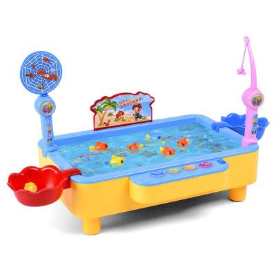 兒童電動釣魚玩具寶寶1-2兩歲3二男孩女孩小孩益智力動腦磁性帶燈光音樂