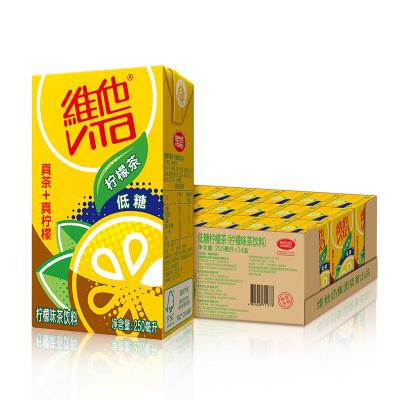維他奶 維他低糖檸檬茶飲料250ml*24盒 低糖無脂肪 檸檬果汁味紅茶 低糖宅家飲料 家庭整箱裝