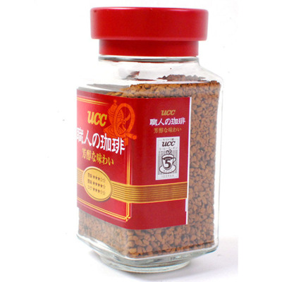【偏酸口感】悠诗诗(UCC)红标精品速溶职人咖啡 90g/瓶 原味咖啡 速溶咖啡 咖啡粉 冲调饮品 日本进口