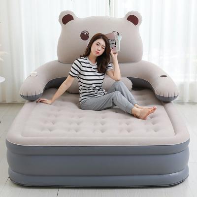 杞沐充气床气垫床双人家用加高加厚熊懒人床卡通可爱情趣气垫床 单人