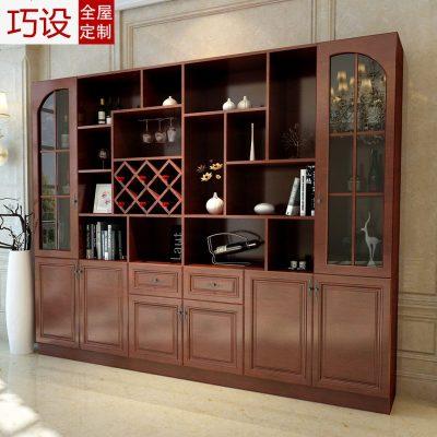 客廳現代酒柜定制裝飾柜酒格玄關柜定做整體隔斷酒柜餐邊柜組合柜