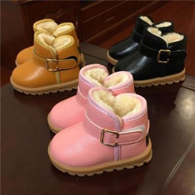 宝宝雪地靴防水婴儿鞋学步鞋软底女童棉鞋短靴子男童鞋马丁靴保暖 莎丞