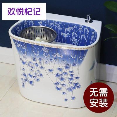 拖把池阳台卫生间陶瓷墩布池大号拖帕池庭院家用地拖盆槽洗拖布池