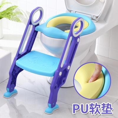【苏宁自营】儿童坐便器女宝宝小孩男孩坐垫圈女孩厕所梯椅可折叠楼梯式马桶架清洁设备