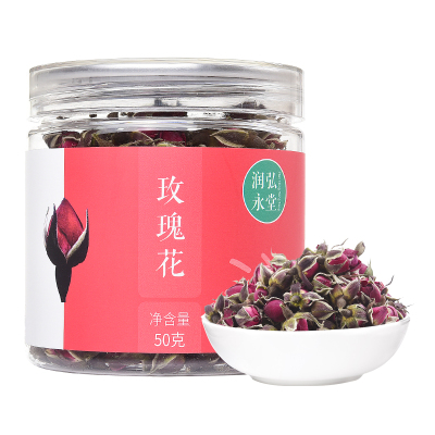 潤弘永堂 (runhongyongtang)玫瑰花50g/罐 云南金邊玫瑰花茶 花草茶 玫瑰花茶 愛美女性佳選