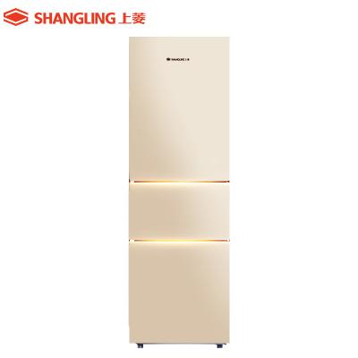 上菱(shangling) BCD-211THC(金色)211升三门冰箱 三门三温 中门软冷冻分区养鲜 大容量家用冰箱