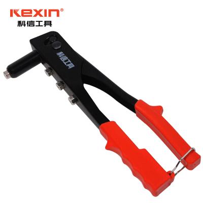 科信(kexin)舒適型拉鉚槍 鉚釘槍拉帽槍雙把手動拉釘槍 9.5