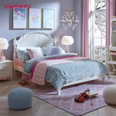 喜梦宝儿童床1.2米简约白色青少年单双人床1.35米1.5米卧室床