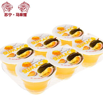馬來西亞館 素瑪哥/SUMACO 榴蓮味果凍(含椰果) 660g*1套
