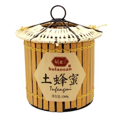 【中華特色】胡老三 云南土蜂蜜 1360g/瓶 瓶裝 液態蜜 其它蜂蜜