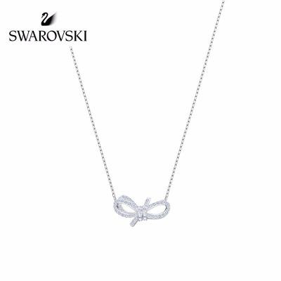 SWAROVSKI(施華洛世奇) 蝴蝶結 浪漫嫵媚 典雅華麗女項鏈 人造水晶 送戀人5440643
