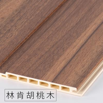 竹木纖維墻裙生態木護墻板防水墻面裝飾板吊頂材料背景墻陽臺快裝 林肯胡桃木