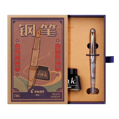百樂(PILOT) 日本進口百樂FP-78G鋼筆墨水套裝78G+辦公學生書法練字鋼筆