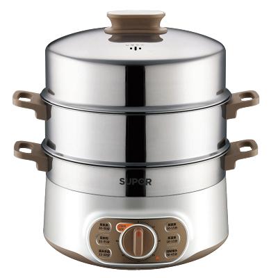 蘇泊爾(SUPOR)家用電蒸鍋ZN28YK807-150多功能不銹鋼雙層電蒸籠三層大容量防干燒定時功能
