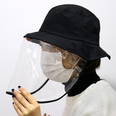 巴布豆配飾防飛沫漁夫帽防曬防唾液男女通用出行隔離帽全臉保護成人帽子