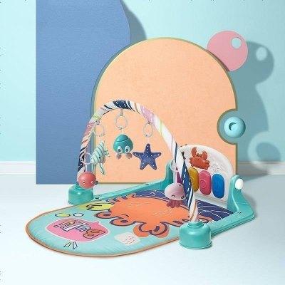 babycare嬰兒健身架腳踏鋼琴0-3-6-12個月新生兒寶寶益智音樂玩具嬰兒玩具 莫拉諾螃蟹