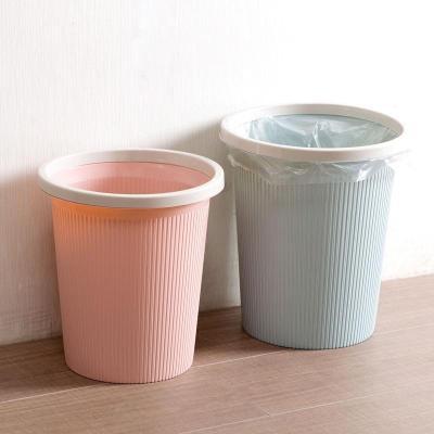 带压圈垃圾桶家用厨房客厅卫生间纸篓卧室大号垃圾篓垃圾筒