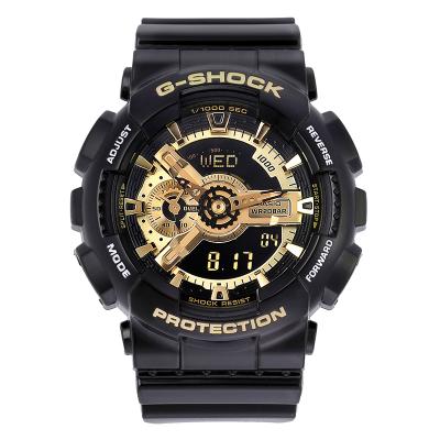 卡西歐(CASIO)手表運動男表G-SHOCK黑金黑武士雙顯防水防震多功能石英表男表GA-110GB-1A
