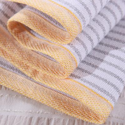 家柏飾(CORATED)手織老粗布枕巾加厚純棉加大全棉枕巾單人拍數量2是一對