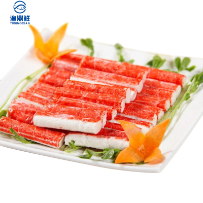 渔鼎鲜冷冻蟹肉棒500g出口品质日式料理佳品航空冷链配送 国产袋装蟹类蟹肉棒