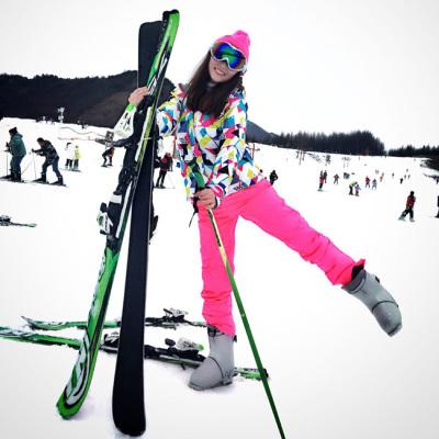 闪电客 滑雪服 女 套装单板双板韩国户外防水防风保暖透气冬加厚滑雪装备