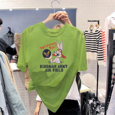 網紅棉T恤女短袖ins潮2020年夏季新款韓版大碼寬松百搭港味上衣莎丞(SHACHEN)