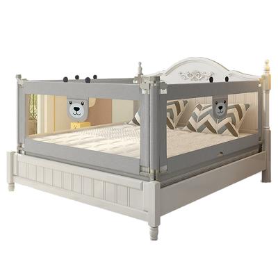 【發順豐】KDE嬰兒童大床護欄床欄桿床邊護欄床擋板寶寶床圍欄防摔防掉垂直升降 2米+2米+1.5 灰色新款三面裝