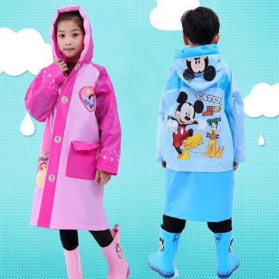 寶迪妮(Baodini)雨衣長款BAODINI-YY1全身兒童雨衣帶書包位單人男女連體加厚加大透明防雨服電動電瓶車雨披